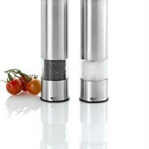 AdHoc PEPMATIK - Setti: kaksi sähkökäyttöistä suola- & pippurimyllyä
