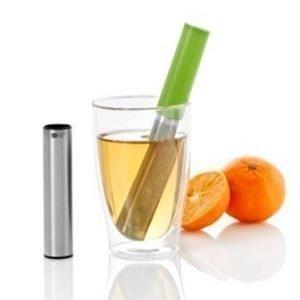 AdHoc TEASTICK GREEN - Teesiivilä ja lusikka