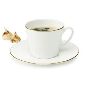 Aida Passion Kahvikuppi Valkoinen / Guld 30 Cl