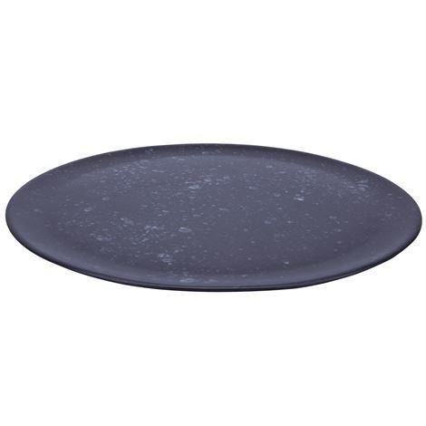 Aida Raw Tarjoilulautanen Ø 33 cm Musta Pilkullinen