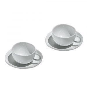 Alessi Fruit Basket Espressokuppi Ja Aluslautanen Valkoinen 4