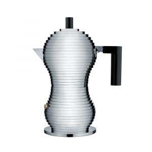 Alessi Pulcina Kahvinkeitin Medium Musta / Alumiini