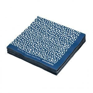 Almedahls Bows Servetti Sininen 12-Pakkaus