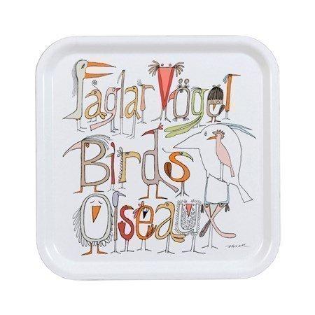 Almedahls Fåglarna berättar-tarjotin 32 x 32 cm