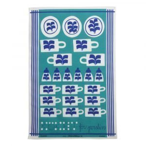 Almedahls Köket För Porslin Keittiöpyyhe Sininen 47x70 Cm