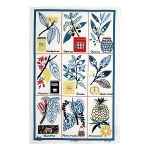 Almedahls Kulturväxter Keittiöpyyhe Sininen 47x70 Cm