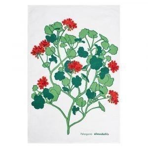 Almedahls Pelargonia Keittiöpyyhe Punainen 47x70 Cm