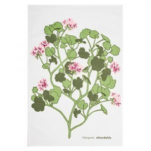 Almedahls Pelargonia Keittiöpyyhe Vaaleanpunainen 47x70 Cm