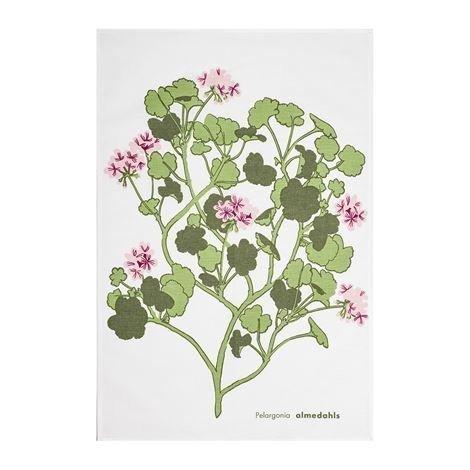 Almedahls Pelargonia Keittiöpyyhe Vaaleanpunainen