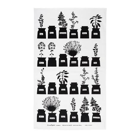 Almedahls Persons Kryddskåp Keittiöpyyhe Black Edition 47x70 cm