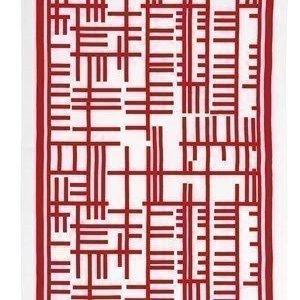 Almedahls Pickepin keittiöpyyhe punainen