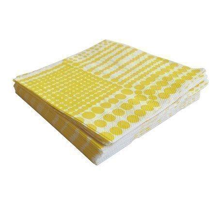 Almedahls Pricktyg paperiservetti keltainen