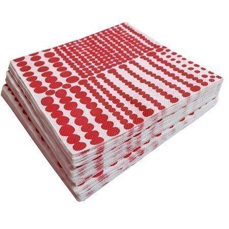 Almedahls Pricktyg paperiservetti punainen