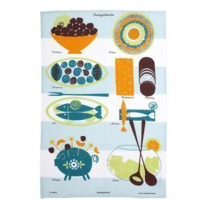 Almedahls Smörgåsbordet Kjøkkenhåndkle Sininen 47x70 Cm