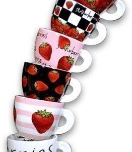 Ancàp Fragole espressokupit ja alusta 6-pack