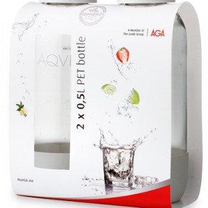 Aqvia Pet Pullo Valkoinen 0.5 L 2 Kpl