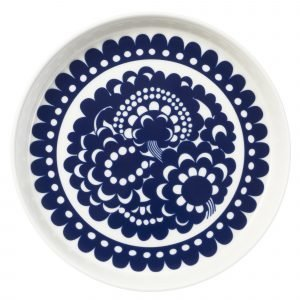 Arabia Esteri Lautanen Sinivalkoinen Ø 19 Cm