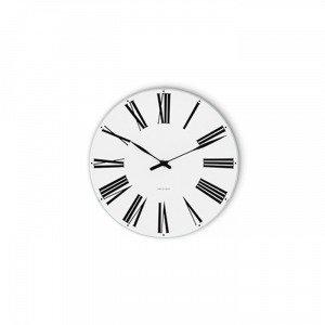 Arne Jacobsen Roman Seinäkello Valkoinen 16 Cm