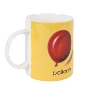 Bastian Ladybird Muki keltainen B-balloon 34