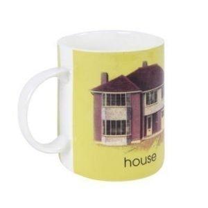 Bastian Ladybird Muki keltainen H-house 34 c