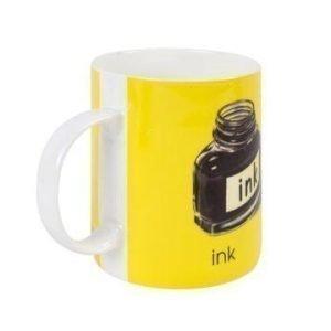 Bastian Ladybird Muki keltainen I-ink 34 cl