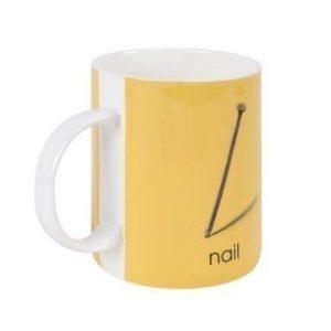 Bastian Ladybird Muki keltainen N-nail 34 cl