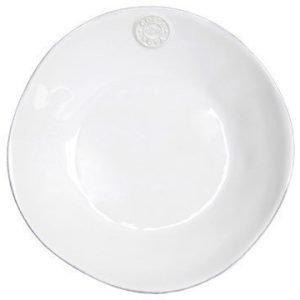 Bastian Nova Salaatti-/Pastalautanen syvä Valkoinen 25 cm