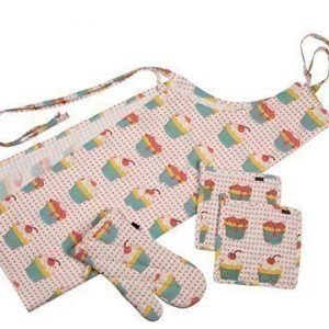 Bastian textilier Tekstiilisetti cupcakes