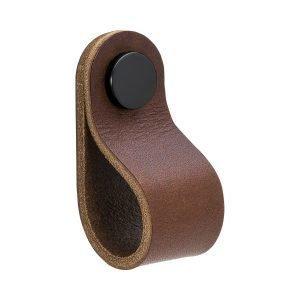 Beslag Design Loop Round Kahva S Ruskea / Musta
