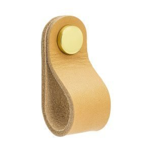 Beslag Design Loop Round Kahvoilla Nature / Messinki