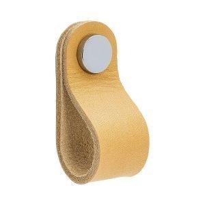 Beslag Design Loop Round Kahvoilla Nature / Puleerattu Kromi