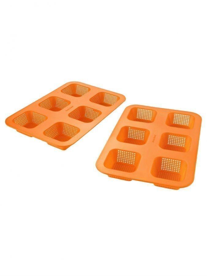 Betty Bossi Sämpylävuoka 2-Pakkaus Oranssi