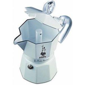 Bialetti 3 kupin Moka Express Glossy White Ceramica espressokeitin