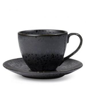 Bitz Cappuccinokuppi Lautasella Musta 22 Cl