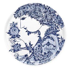 Bjørn Wiinblad Rosamunde Tarjotin Pyöreä Sininen 46 Cm