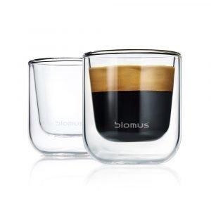 Blomus Nero Kaksiseinänen Espressolasi 2-Pakkaus