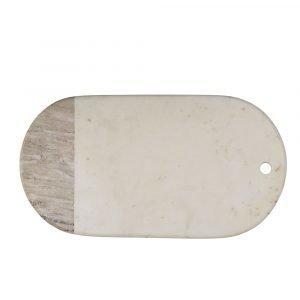 Bloomingville Leikkuulauta Valkoinen / Marmori 23x45 Cm