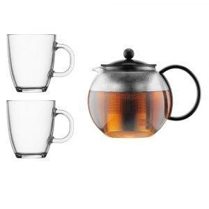 Bodum Assam Teekannu + 2 Lasia 35 Cl 1 L