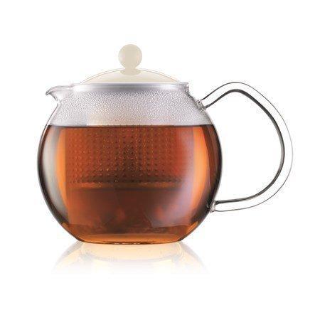 Bodum Assam Teekannu 50 cl Valkoinen lasikahvalla