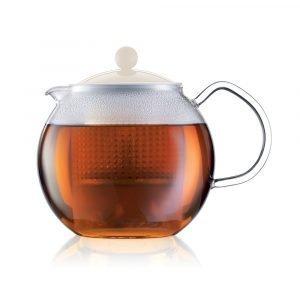 Bodum Assam Teekannu Ja Siivilä Valkoinen 1 L