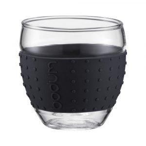 Bodum Pavina Lasi Silikonilla Musta 35 Cl 2-Pakkaus