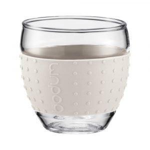Bodum Pavina Lasi Silikonilla Valkoinen 10 Cl 2-Pakkaus