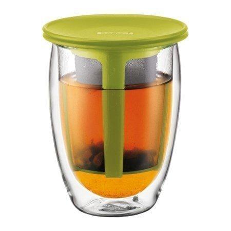 Bodum TEA FOR ONE Kaksikerroksinen lasi ja muovisuodatin 35 cl