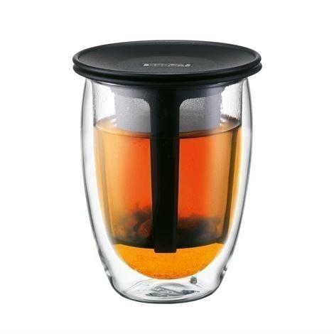 Bodum Tea For One Lasi Teesihdillä Musta