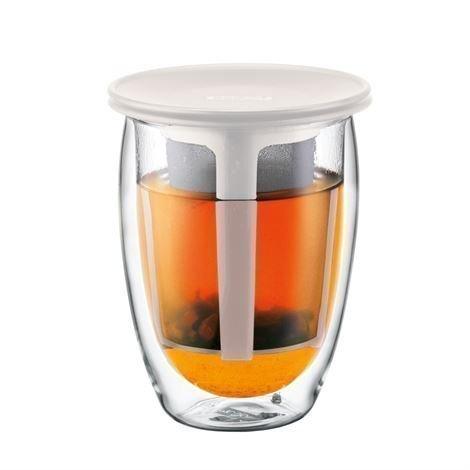 Bodum Tea For One Lasi Teesihdillä Off White Valkoinen
