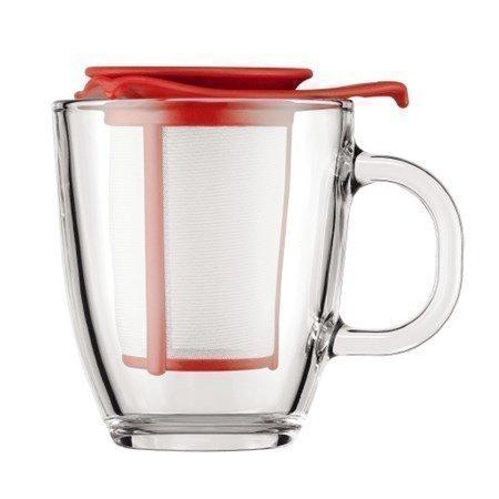 Bodum Teekuppi ja suodatin Lahjapakkaussetti pun.