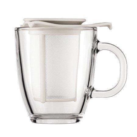 Bodum Teekuppi ja suodatin Lahjapakkaussetti valk.