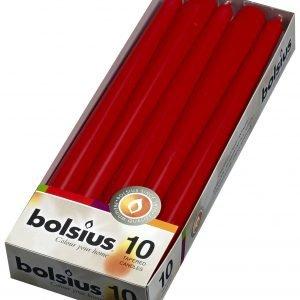Bolsius Kynttilä Punainen 12x2.3 Cm 10 Kpl
