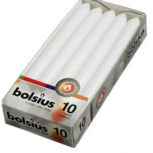 Bolsius Kynttilä Valkoinen 23x2 Cm 10 Kpl