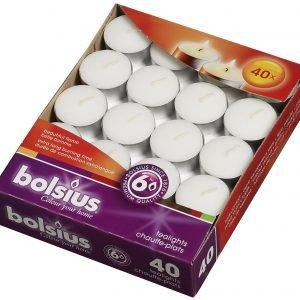 Bolsius Lämpökynttilä Valkoinen 40 Kpl